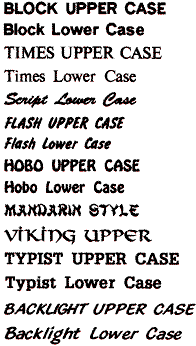 Font and Monogramming Example 1