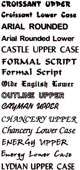 Font and Monogramming Example 2